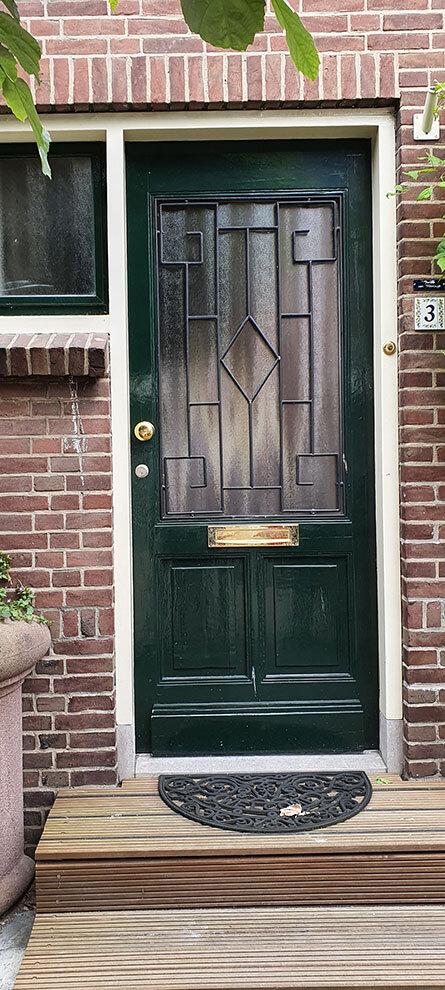Voordeur in Katwoude, Noord-Holland